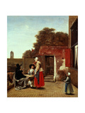 A Dutch Courtyard, 1658-1660 Giclee Print by Pieter de Hooch