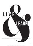 Live and Learn Posters par Antoine Tesquier Tedeschi