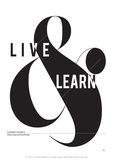 Live and Learn Poster di Antoine Tesquier Tedeschi