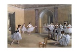 The Dance Foyer at the Opera on the Rue Le Peletier, 1872 Giclée-tryk af Edgar Degas