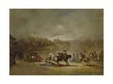 The Picadors Moment, Ca. 1855 Giclée-Druck von Eugenio Lucas Velazquez