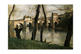 The Bridge at Mantes, 1868 Giclée-tryk af Jean-Baptiste-Camille Corot