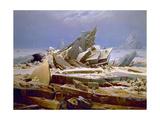 The Sea of Ice, C. 1823-1824 Giclée-tryk af Caspar David Friedrich