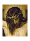 Crucified Christ (Detail of the Head), Cristo Crucificado Giclée-tryk af Diego Velazquez