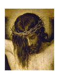 Crucified Christ (Detail of the Head), Cristo Crucificado Giclée-Druck von Diego Velázquez