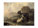 Paisaje Con Animales, Hacia 1844 Giclée-tryk af Jenaro Perez Villaamil