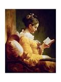 Reading Girl, 1776 Gicléedruk van Jean-Honoré Fragonard