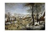 Winter Landscape with a Bird Trap, Ca. 1601 Giclée-vedos tekijänä Pieter Brueghel the Younger