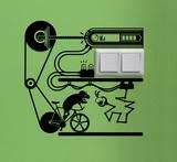 Hamster Fixie Bike Veggoverføringsbilde