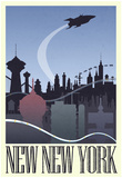 New New York Retro Travel Poster Print