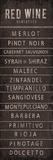 Wine Varieties I Poster af  The Vintage Collection