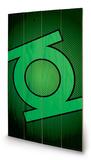 DC Comics - Green Lantern Symbol Wood Sign Treskilt