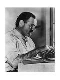 Ernest Hemingway Typewriting Reproduction photographique