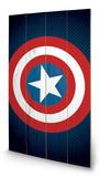 Avengers Assemble - Captain America Shield Wood Sign Treskilt