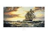 Squally Weather Print by Montague Dawson