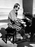 Elton John Playing Piano Fotografisk trykk