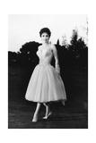 Gina Lollobrigida Wearing an Elegant Dress Fotoprint