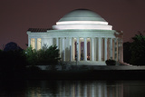 The Jefferson Memorial Illuminated at Dusk Photographic Print by Vickie Lewis