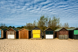A Row of Beach Changing Huts Reproduction photographique par Will Wilkinson