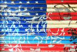 American Flag Graffiti Fotografisk trykk av Sabine Jacobs