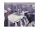 Rooftops under the Snow, Paris Affiches par Gustave Caillebotte