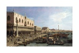 Dock with the Column of San Marco and Doges Palace, Venice, 1735 Prints