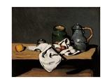 Jar, Coffee Pot and Fruit Arte por Paul Cézanne