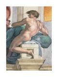 Sistine Chapel Ceiling, Male Nude Plakater af Michelangelo Buonarroti,