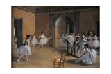 Clase de danza en la ópera Lámina por Edgar Degas