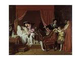 Francis I Collects the Last Breath of Leonardo Da Vinci Kunstdrucke von Jean-Auguste-Dominique Ingres