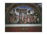 Dispute of St. Catherine (With Emperor Maximian) Posters af Bernardino di Betto Pinturicchio