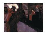 Enthroned Messalina (With Roman Centurion and Men in to gas) Posters par Henri de Toulouse-Lautrec