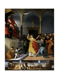 Saint Lucia in Front of the Court Posters by Lorenzo Lotto