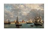 Camaret Dock Prints by Eugène Boudin