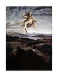 Assumption of Mary Magdalene Poster af Giovanni Lanfranco