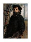 Portrait of Claude Monet Giclée-Premiumdruck von Pierre-Auguste Renoir