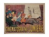 Poster for Cinematograph Lumiere Plakater av Marcellin Auzolle