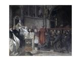 Saint Francis before Pope Innocent the Third Pósters por Vittorio Emanuele Bressanin