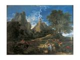 Arcadian Landscape with Polyphemus (Cyclopes in Homer's Odyssey) Poster by Nicolas Poussin