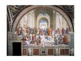 École d'Athènes Affiche par  Raphael