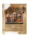 Story of Bayad and Riyad, 13-15th C. Iberian Islamic Miniature with Arabic Text Plakater
