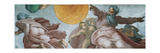 Sistine Chapel Ceiling, God Creating Sun and Moon Posters af Michelangelo Buonarroti,