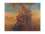 Georgica (Harvest Scene with Nursing Mother and Farmer Father) Print by Gaetano Previati