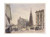 Saint Stephen's Cathedral in Vienna, 1832 Poster by Rudolf Von Alt