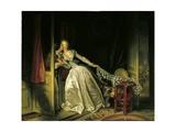 Furtive Kiss Kunstdrucke von Jean-Honoré Fragonard
