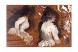 Painting Study for 'La Danse De Monde' Poster par Giuseppe De Nittis