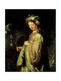 Saskia as Flora Posters por  Rembrandt van Rijn