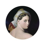 Head of the Grande Odalisque Print by Jean-Auguste-Dominique Ingres