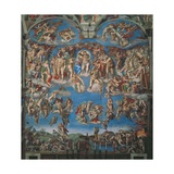 Sistine Chapel, the Last Judgment (Entire View) Print by  Michelangelo Buonarroti