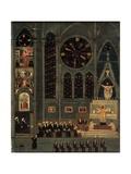 Interior of a Church Kunstdruck von Louis Vivin